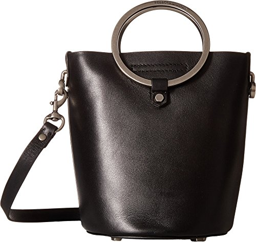 Rebecca Minkoff Women's Ring Bucket Bag, Black, One - Bucket Ring