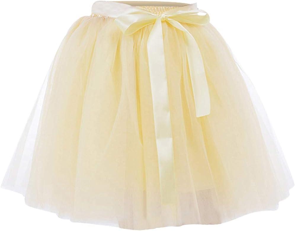 Laus Faldas de Tul Mujer 7 Capas Faldas Fiesta por la Rodilla ...