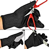 2 Pair Knife Proof Cut Resistant Gloves Kitchen, Anti Cutting Stainless Steel Wire Mesh, High Performance Level 5 Protection, Safety Work Lightweight, for Hand Protection Cut, Cook, Yard and Outdoor