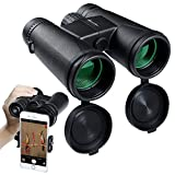 10x42 Binoculars for Adults, Compact Binoculars High Powered Binoculars with Fully Multi-Coated Lens, Waterproof Fogproof Low Light Night Vision for Bird Watching, Outdoor, Hunting, Camping, Hiking