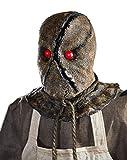 6 Ft Burlap Horror Scarecrow Animatronics – Decorations