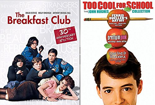 John Hughes 80's Breakfast Club / Ferris Bueller's Day Off / Pretty in Pink / Some Kind of Wonderful DVD Set double 4 movie feature bundle Too Cool for School - The John Hughes Collection