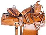 AceRugs Western Saddle 15″ 16″ 17″ 18″ Pleasure Trail Hand Carved Classic RANCHING Leather Horse TACK Package Comfy SEAT