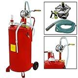 25 Gallon Gas Caddy Diesel Fuel Storage Tank Dispenser Portable Gas Caddy