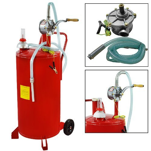 25 Gallon Gas Caddy Diesel Fuel Storage Tank Dispenser Portable Gas Caddy