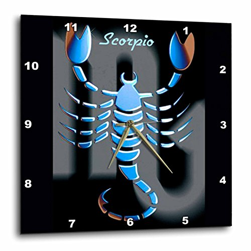 3dRose Scorpio Zodiac Sign Wall Clock, 10 by 10-Inch