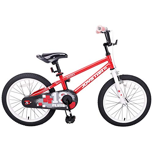 (JOYSTAR 18 Inch Kids Bike for 5 6 7 8 9 Years Old Girls & Boys, Unisex Child Bicycle with Kickstand,)