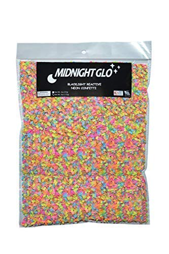 (Midnight Glo Blacklight Reactive Neon Confetti Shred Great for Party Favors & Party Accessories)