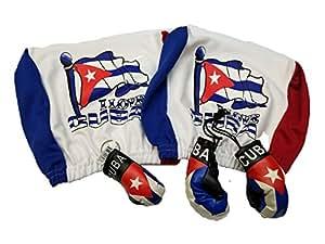 4pcs cubierta de reposacabezas de Cuba bandera cubana de guante de boxeo y llavero