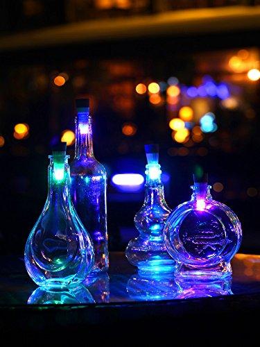 ETbotu Official Bottle Light Cork Shaped Rechargeable LED Night Lights Spark LED Wine Bottle Lamp for Party USB Rechargeable