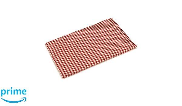 Almohada térmica de semillas 30x20cm (algodón orgánico rojo ...