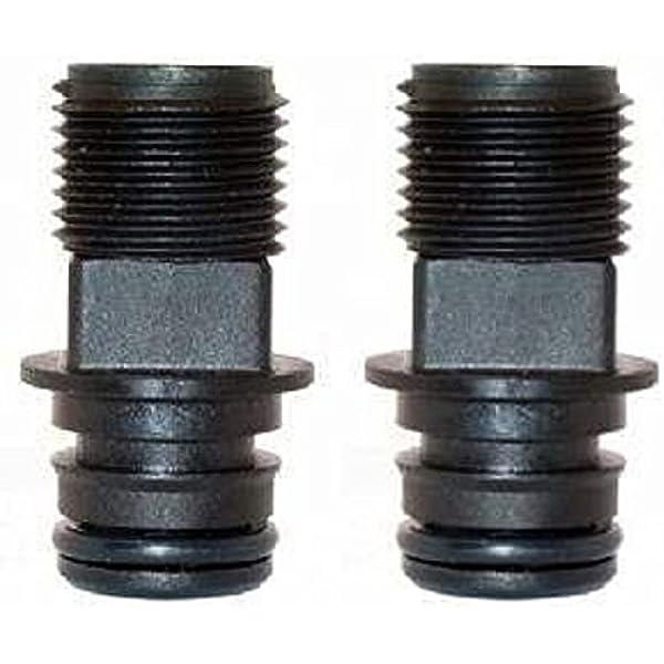 Flojet 20381-002 Electric Pump Fitting Quad Port x 1//2 Hose Barb Straight