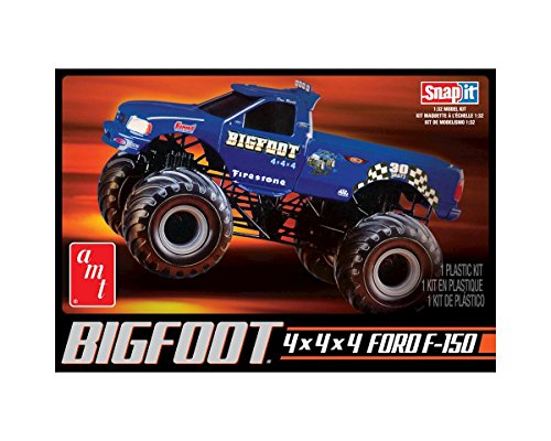 Bigfoot Monster Truck - AMT 805 1/32 Big Foot Monster Truck. Snap Kit
