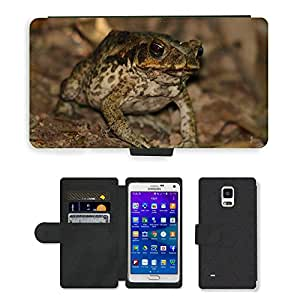 GoGoMobile Flip PU Leather Wallet Case with Credit Card Slots // M00119197 Toad Frog Cane Toad Animal Amphibian // Samsung Galaxy Note 4 IV