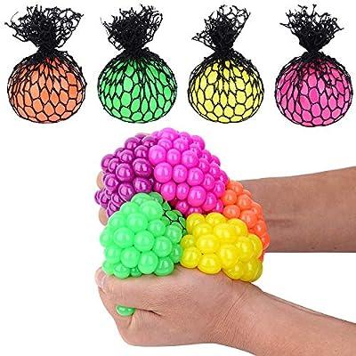 Totem World 24 Colorful Sewn Mesh Stress Balls - 2.4