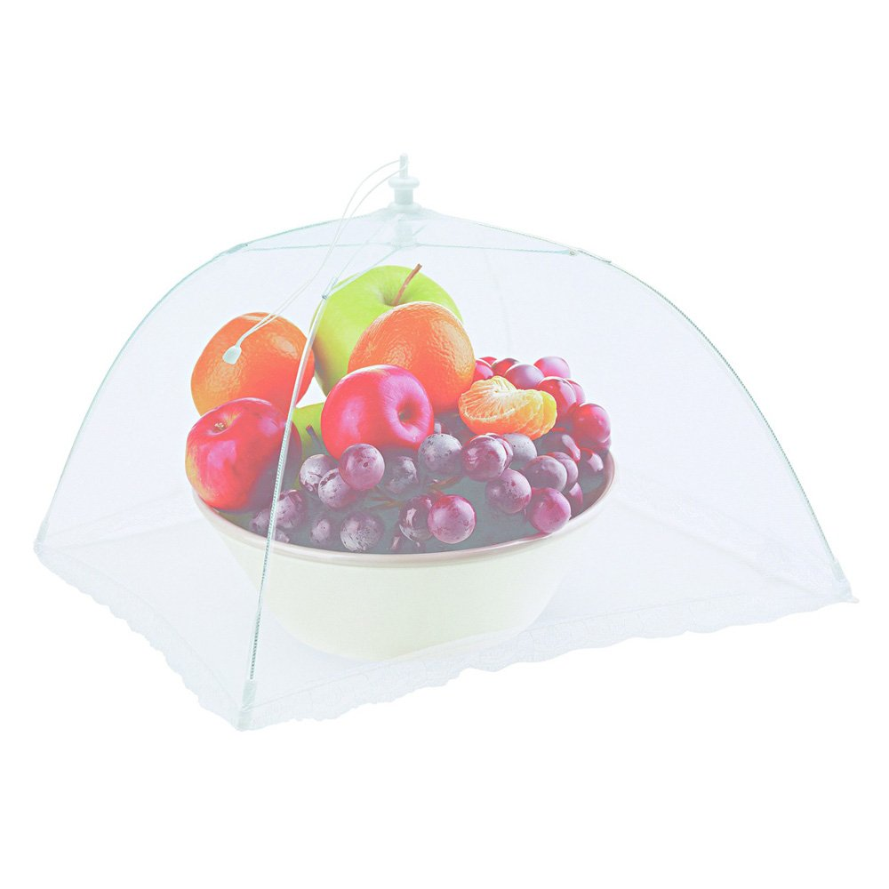 6 Large Pop-Up Mesh Net Screen Food Cover Tents, Outdoor Picnic Mesh Net Food Cover Protectors-Reusable-Collapsible Umbrella Set, 16 Inch, Keep Out Flies and Insects.