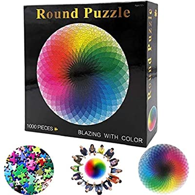 CMMJHU 1000 Puzzles for Adullts Funny Gradient Puzzle Round Round Cut Game for Piece Puzzles The Puzzles: Toys & Games