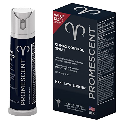 Promescent Desensitizing Delay Spray for Men Clinically Proven to Help You Last Longer in Bed - Better Maximized Sensation + Prolonged Climax For Him,7.4ml - A Partner In Technology