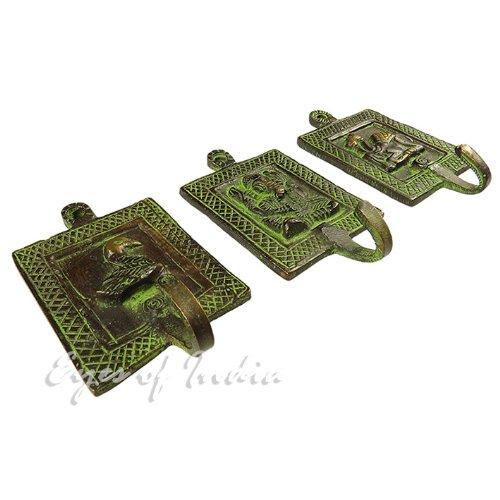 EYES OF INDIA Brass Animal Coat Key Hanger Wall