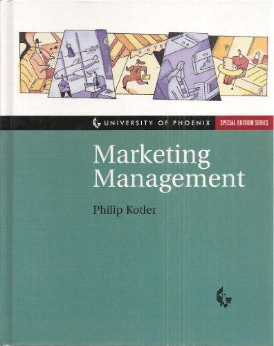 Download Marketing Management (University of Phoenix Special Edition Series) PDF