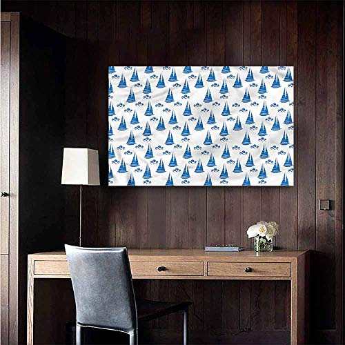 Gabriesl Wall Mural Wallpaper Stickers Sail Boat Abstract Ship Pattern School Dormitory Classroom Size : W36 x H24