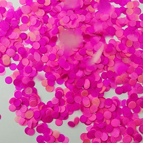 (Confetti Circles 1/2 Inch Small 1 Color 8000 Plus Circles Pink 3 Shades of pink)