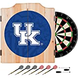 University of Kentucky Deluxe Solid Wood Cabinet Complete Dart Set - Officially Licensed!