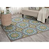Waverly Sun N  Shade Solar Flair Jade Area Rug (6 6 Square) by Nourison
