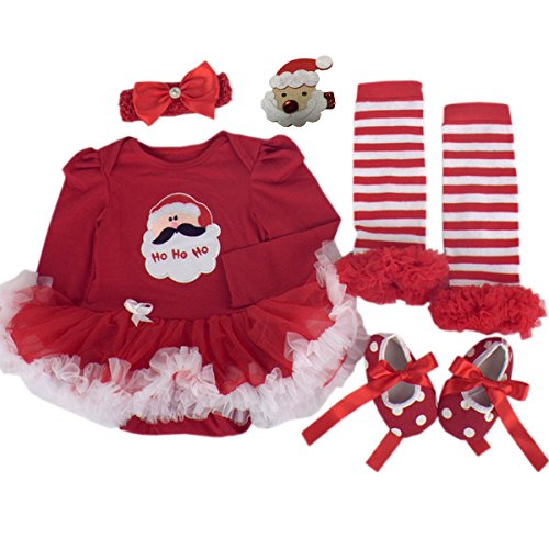 Baby Girl Christmas Outfits Toddler Party Dress Newborn Costumes Suit For Kids US Size 6M Red (Fancy Dress Costumes Christmas)