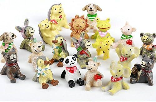 4pcs//lot Bear KKgures Mini Fairy Garden Animals Statue Miniature BSCA