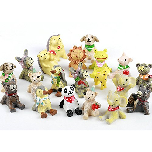 20 Pcs Animals Fairy Garden Kits