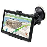 Car GPS Navigation, GPS Mount Touch Screen 7 Inch Portable Vehicle GPS 8GB RAM 256MB with Lifetime Maps and Traffic Star Navigator System Support FM Radio (Upgraded Version)