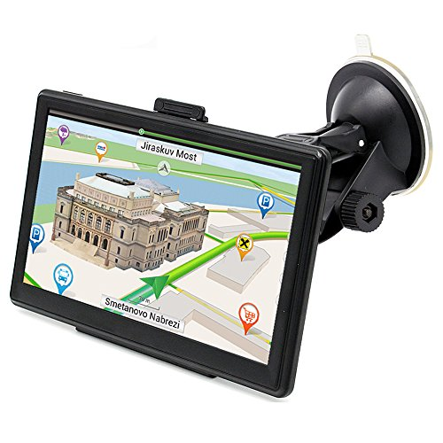 GPS Navigation for Car, GPS Mount Touch Screen 7 Inch Portable Vehicle GPS 8GB RAM 256MB with Lifetime Maps and Traffic Star Navigator System Support FM Radio (Upgraded Version)