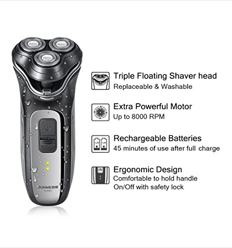 runwe professional men 39 s rechargeable rotary cordless electric shaver for men wet dry men 39 s. Black Bedroom Furniture Sets. Home Design Ideas