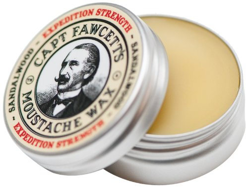 Captain Fawcett Expedition Strength Moustache Wax (Sandalwood Fragrance) Captain Fawcetts Moustache Wax