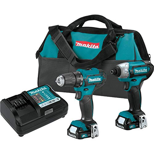 Makita CT232 12V max CXT Lithium-Ion Cordless 2-Pc. Combo Kit (1.5Ah)