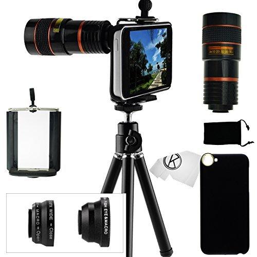 iPhone 5C Camera Lens Kit- 8x Telephoto Lens, Fisheye Lens, 2 in 1 Macro Lens and Wide Angle (Telephoto Lens Iphone 5c)