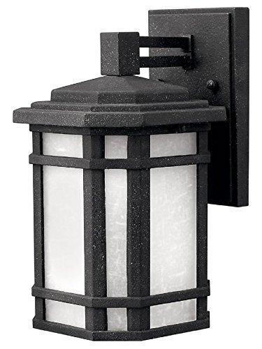Hinkley 1270VK-LED, Cherry Creek Cast Aluminum Outdoor Wall Sconce Lighting LED, Black (1270vk Led)