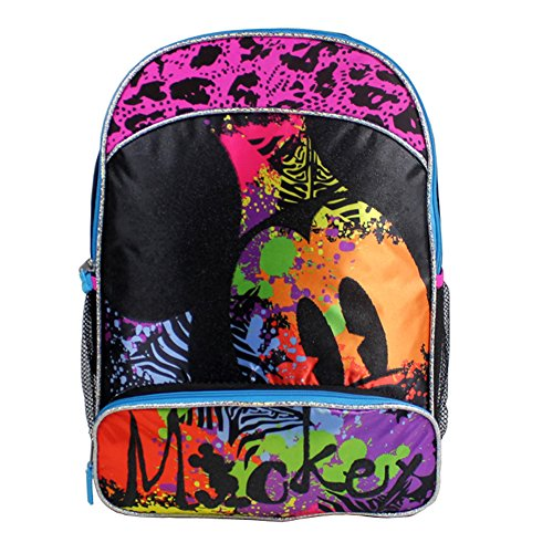 Price comparison product image Disney Mickey Mouse 16' Large Backpack - Multi Color Paint Splat