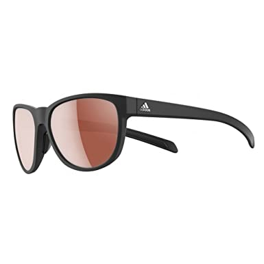 07a45489fc Image Unavailable. Image not available for. Color  Adidas A425 00 6051 Black  Wild Charge Square Sunglasses ...