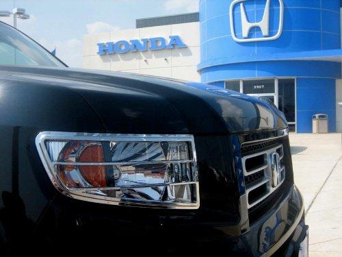 Billet Door Handle Bezels (2006-2012 Honda Ridgeline Chrome Head Light Bezel Cover Trim Headlight)