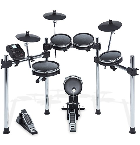 Alesis Surge Mesh Kit | Eight-Piece Electronic Drum Kit with Mesh Heads (10″ Snare, 8″ Toms, 8″ Kick, 10″ Cymbals)