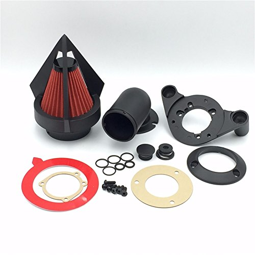 XKH Group Motorcycle Matte Black Triangle Spike Air Cleaner Kits For Harley Dyna Touring models
