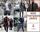 Yostylish Mens Turtleneck Shirts Basic Premium