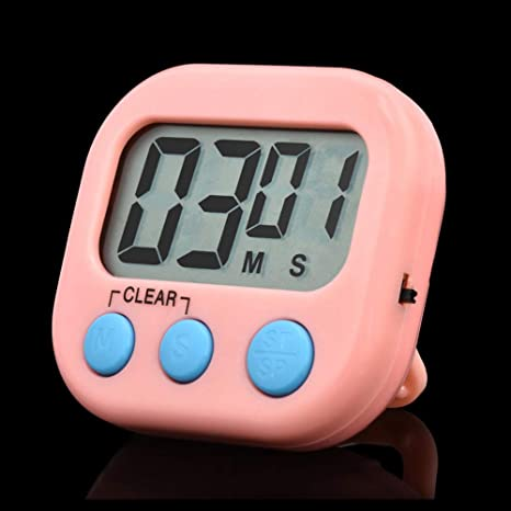 Temporizador de cocina digital, alarma fuerte, reloj de cuenta atrás, botón grande,