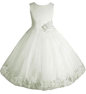 43f2952af08 Amazon.com: AMJ Dresses Inc Big/Little Girls Flower Girl Wedding ...