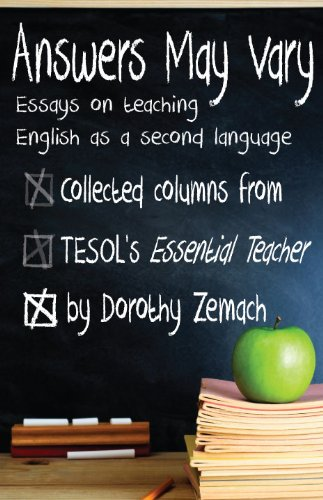 answers vary essays on teaching english as a second language  answers vary essays on teaching english as a second language by zemach