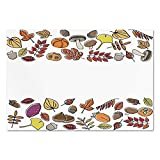 fruit border sticker - Large Wall Mural Sticker [ Harvest,Fruits Nuts Leaves Various Different Hand Drawn Style Elements Nature Borders Frame Decorative,Multicolor ] Self-Adhesive Vinyl Wallpaper/Removable Modern Decorati