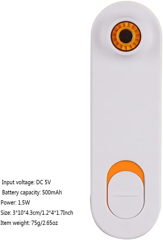 Mini Air Conditioner Fan Portable USB Cooler Cooling Rechargeable Creative Handheld Micro Fans,Orange