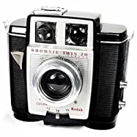 Kodak brownie Twin 20 – vintage anni '1950 Art Deco 620 film camera